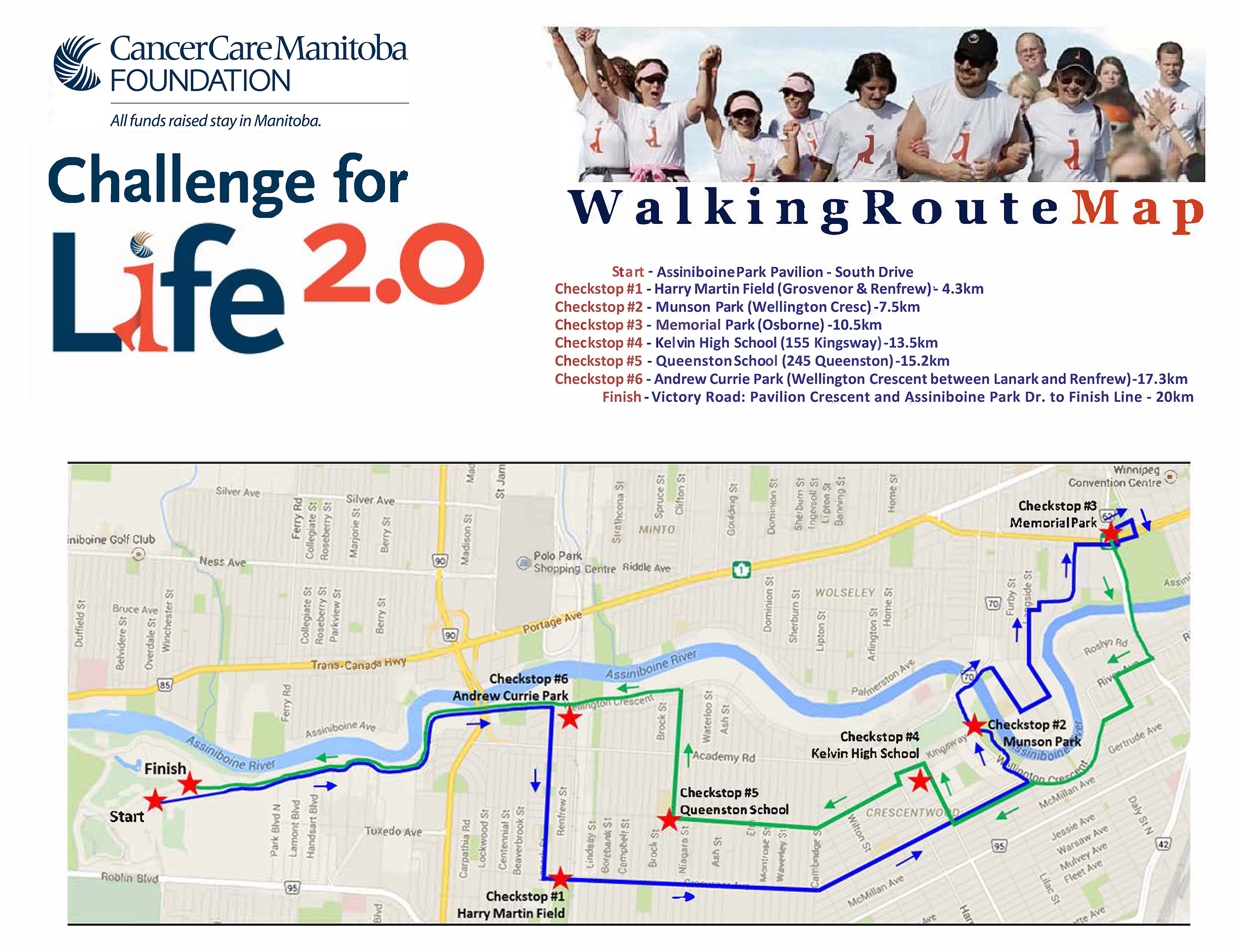 Map 4 Life.2019 Challenge For Life Walk It Cancercare Manitoba Foundation